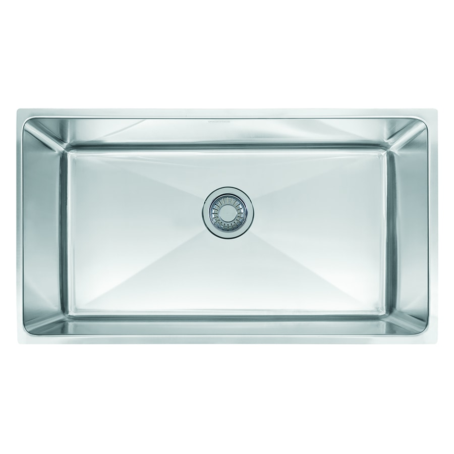 Franke Professional 17.625-in x 34-in Single-Basin Stainless Steel Undermount Commercial Kitchen Sink
