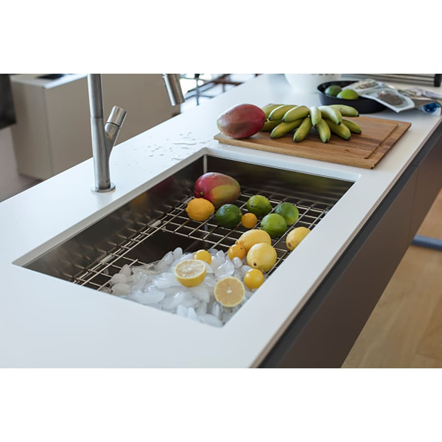 Franke Peak 17.75-in x 26.1875-in Stainless Steel 1 Stainless Steel Undermount (Customizable)-Hole Residential Kitchen Sink