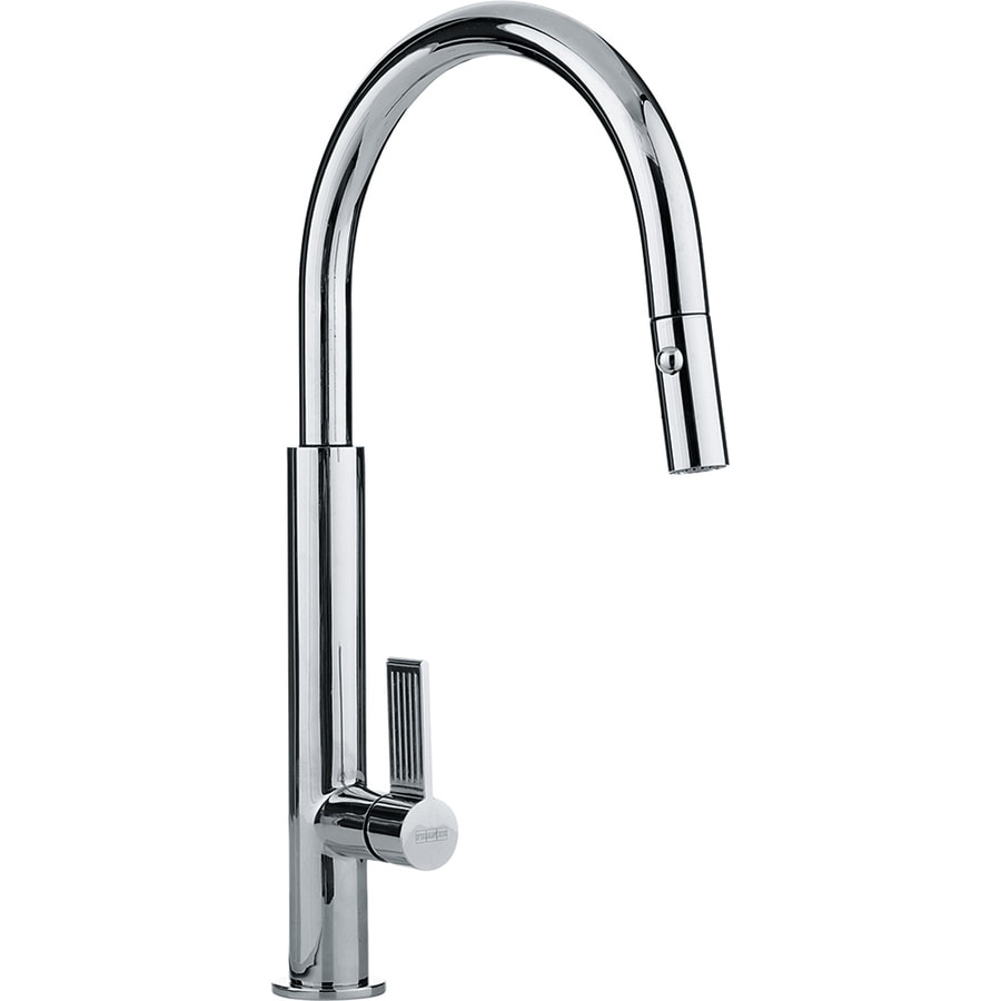 Franke Kitchen Faucet: Franke Evos Chrome 1-Handle Deck Mount Pull-down Kitchen