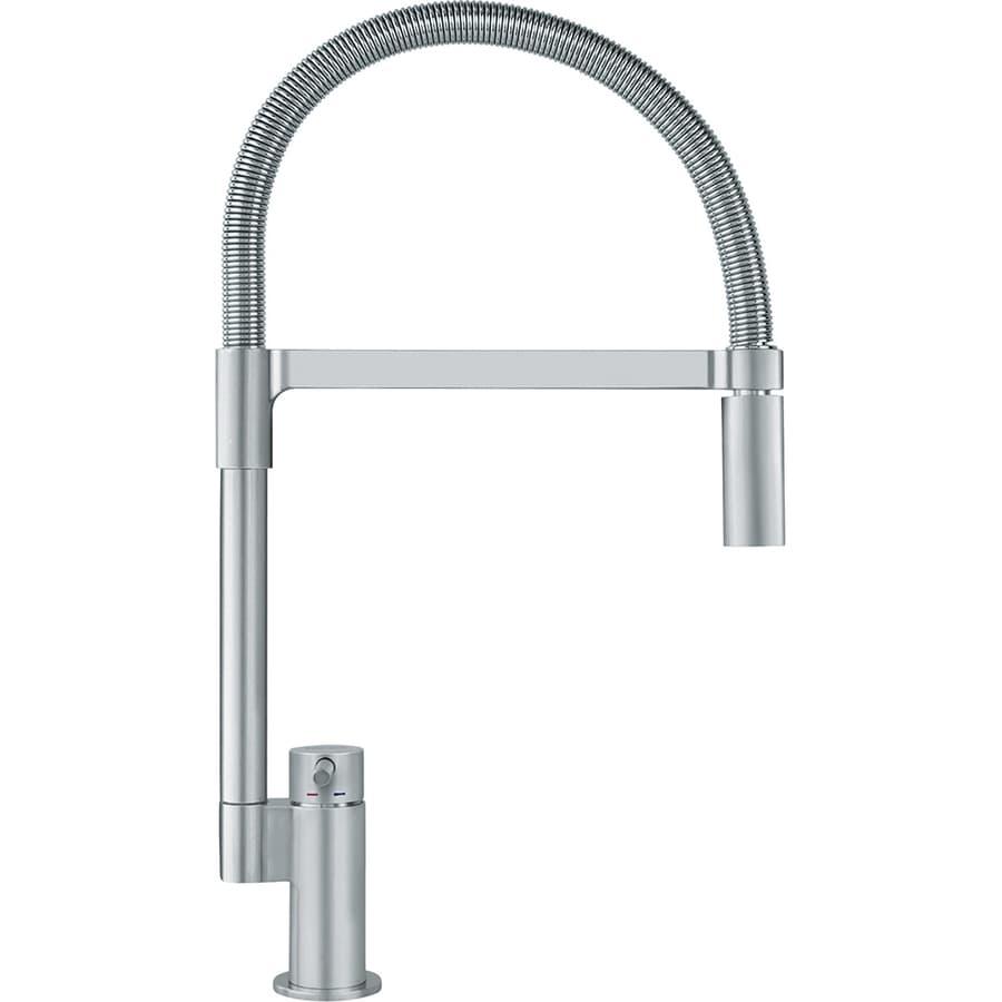 Franke Manhattan Satin Nickel 1-Handle Pre-Rinse Kitchen Faucet