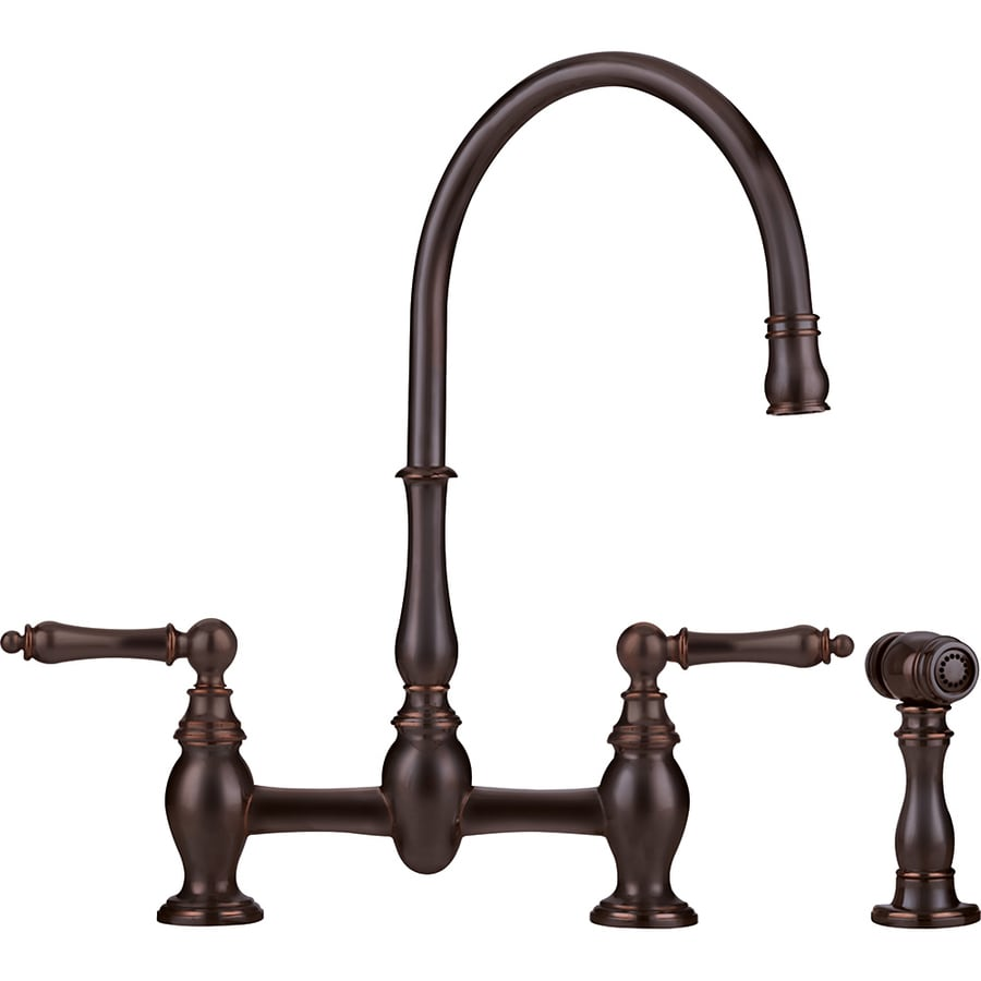 Franke Kitchen Faucet: Franke Farm House Old World Bronze 2-Handle High-Arc