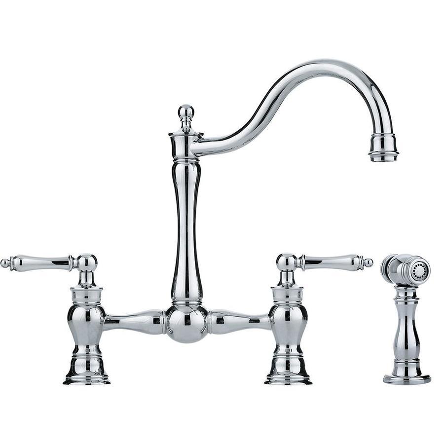 Franke Farmhouse Faucet : Shop Franke Farm House Chrome 2-Handle High-Arc Kitchen Faucet at ...