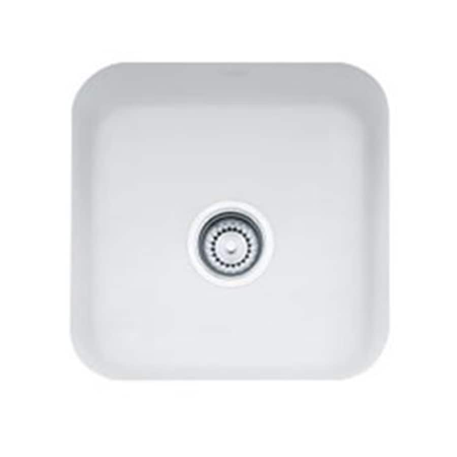 Franke White Composite Sink : Shop Franke USA Cisterna Matte White Fireclay Undermount Residential ...