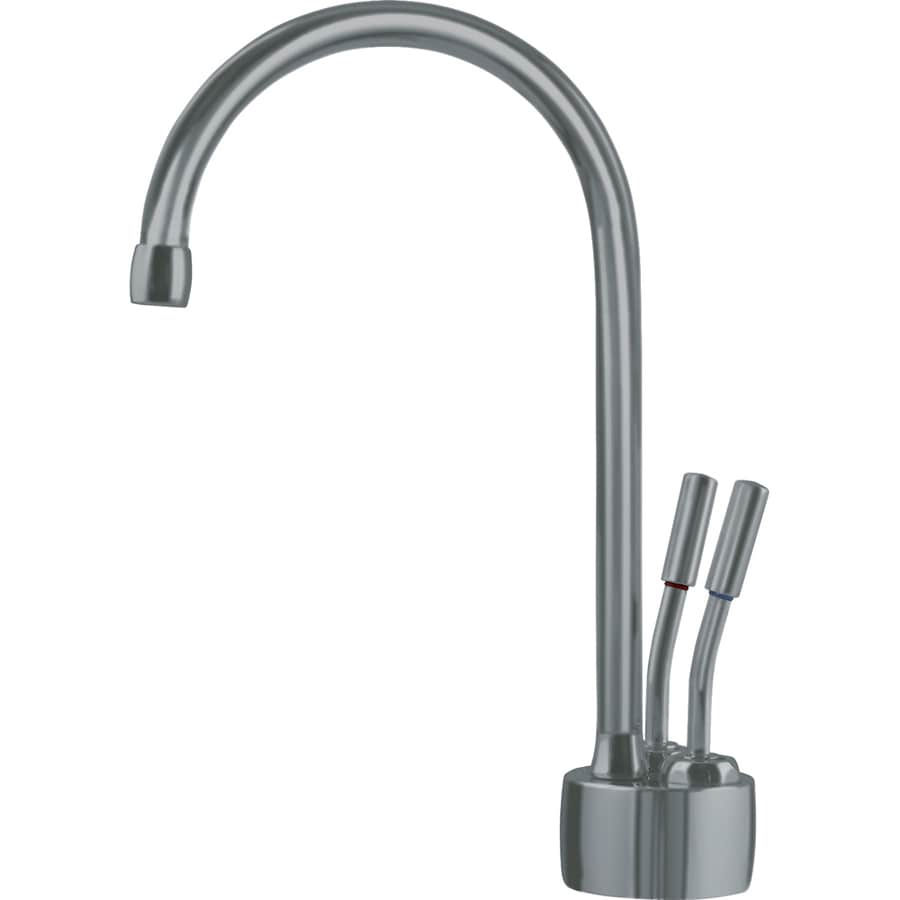 Franke Satin Hot and Cold Water Dispenser with High Arc Spout