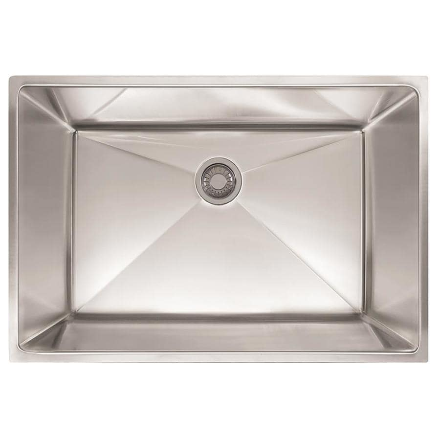 Shop Franke Planar 8 29.5-in x 18.5-in Stainless Steel Single-Basin ...