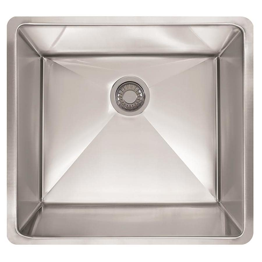 Franke Planar 8 18.5-in x 22.5-in Stainless Steel Single-Basin-Basin Stainless Steel Undermount (Customizable)-Hole Residential Kitchen Sink