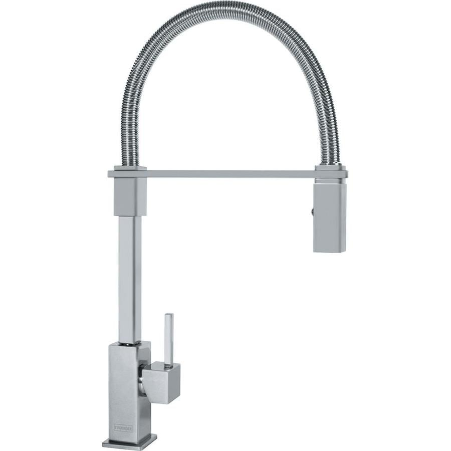 Shop Franke Planar 8 Satin Nickel 1-Handle Pre-Rinse Kitchen Faucet at ...