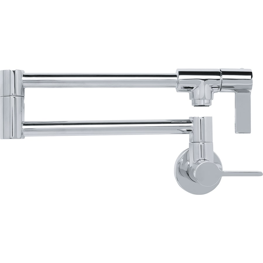 Franke Kitchen Faucets Shop Franke Ambient Chrome 2 Handle Pot Filler Wall Mount Kitchen