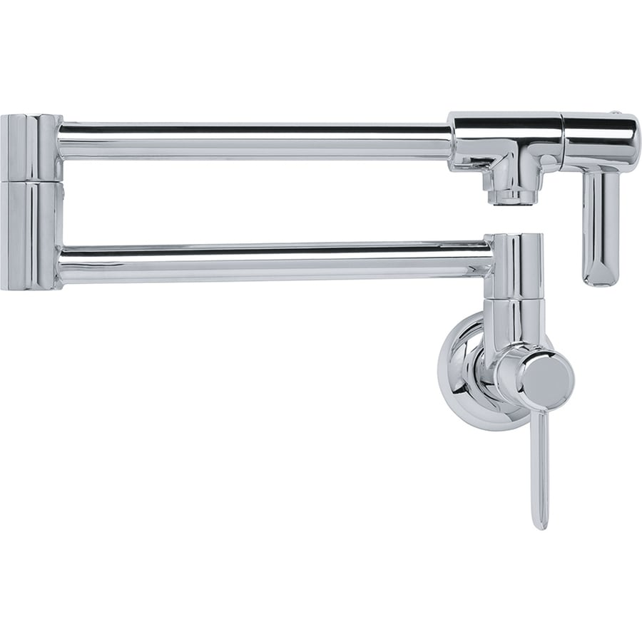 ... Chrome 2-Handle Pot Filler Wall Mount Kitchen Faucet at Lowes.com