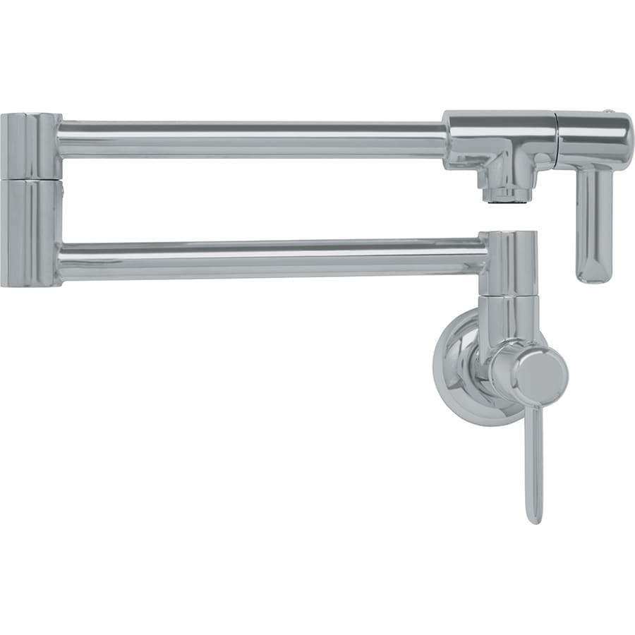 Franke Logik Satin Nickel 2-Handle Wall Mount Pot Filler Kitchen Faucet