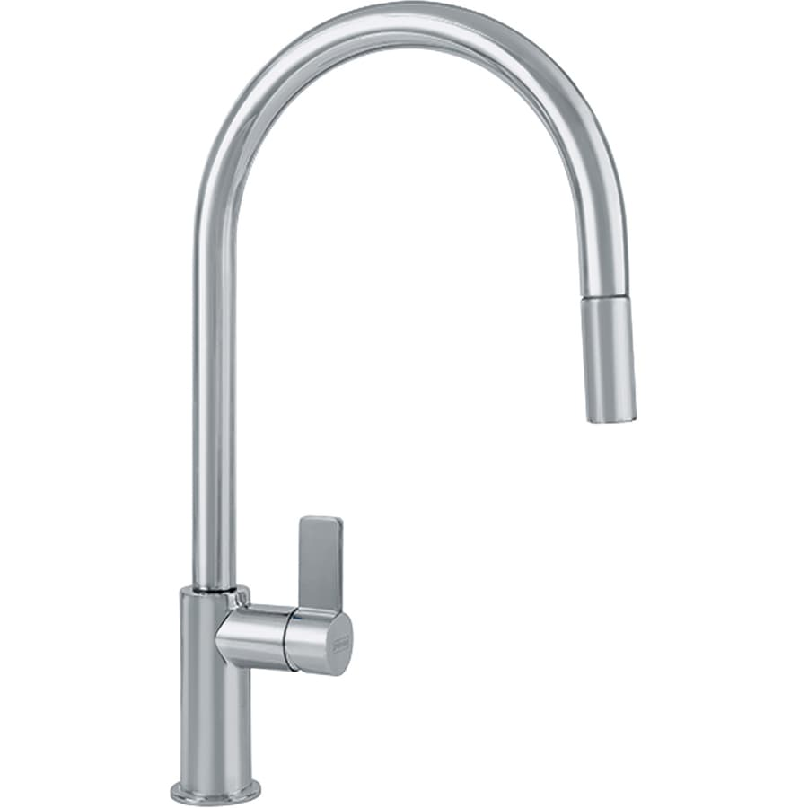 franke ambient satin nickel 1 handle pull down kitchen faucet at rh lowes com franke kitchen faucet repair franke kitchen faucet replacement parts