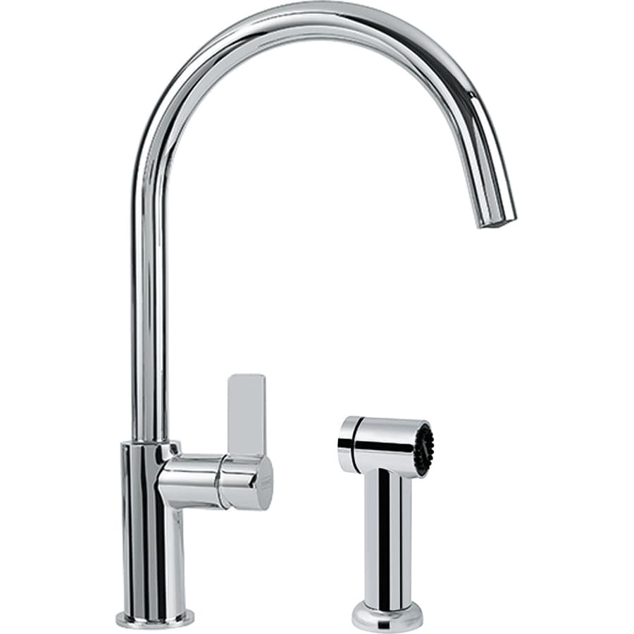 Franke Ambient Chrome 1-Handle High-Arc Kitchen Faucet with Side Spray