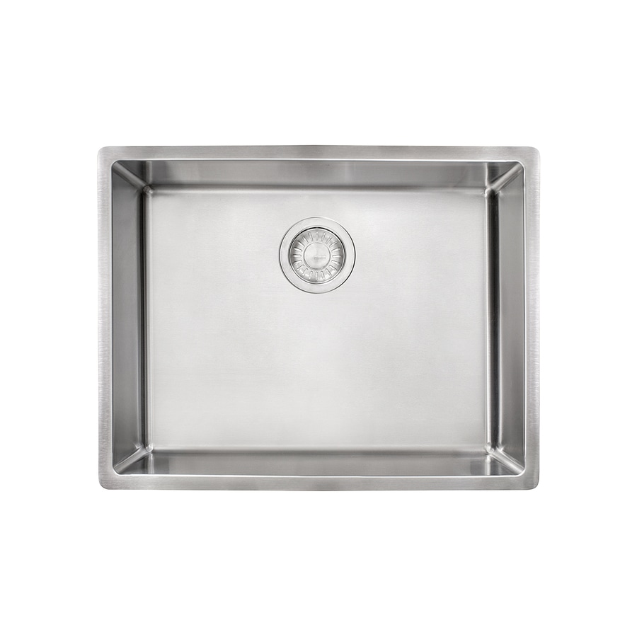 Shop Franke Cube 17.75-in x 22.75-in Single-Basin Stainless Steel ...