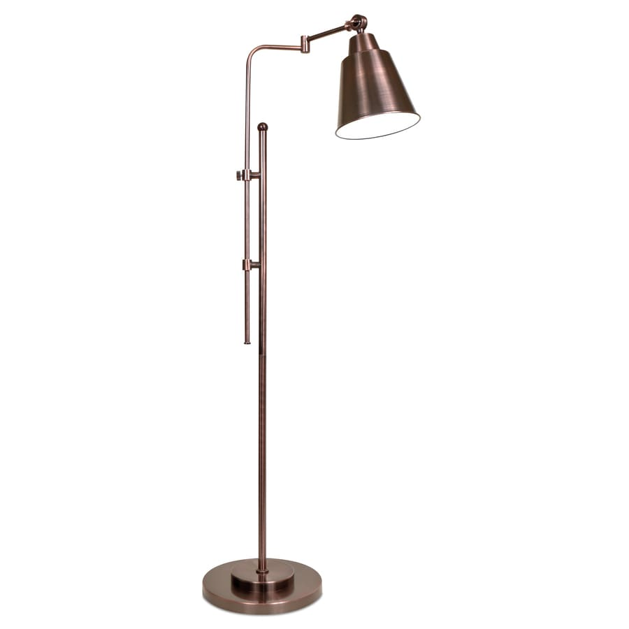 OttLite 57-in Oil Rubbed Bronze Floor Lamp with Metal Shade