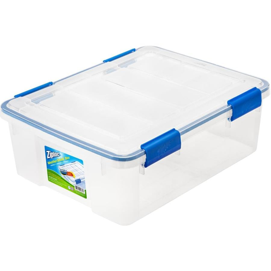Ziploc Brand 26-Quart Clear Tote with Latching Lid