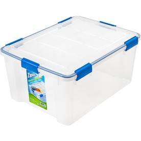 Ziploc 15 Gallon (60 Quart) Clear Tote With Latching Lid