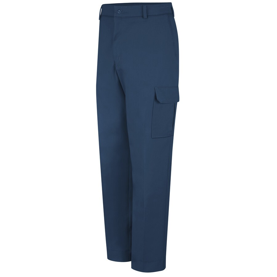 Red Kap Men's 50 x 32 Navy Twill Cargo Work Pants