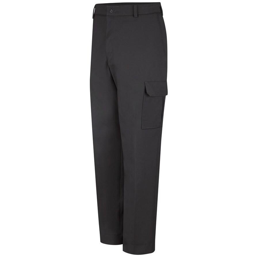 Red Kap Men's 30 x 30 Black Twill Cargo Work Pants