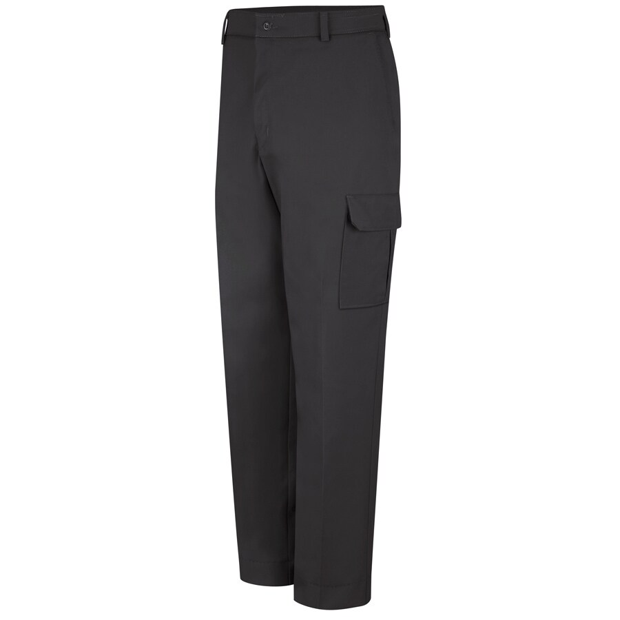Red Kap Men's 48 x 30 Black Twill Cargo Work Pants