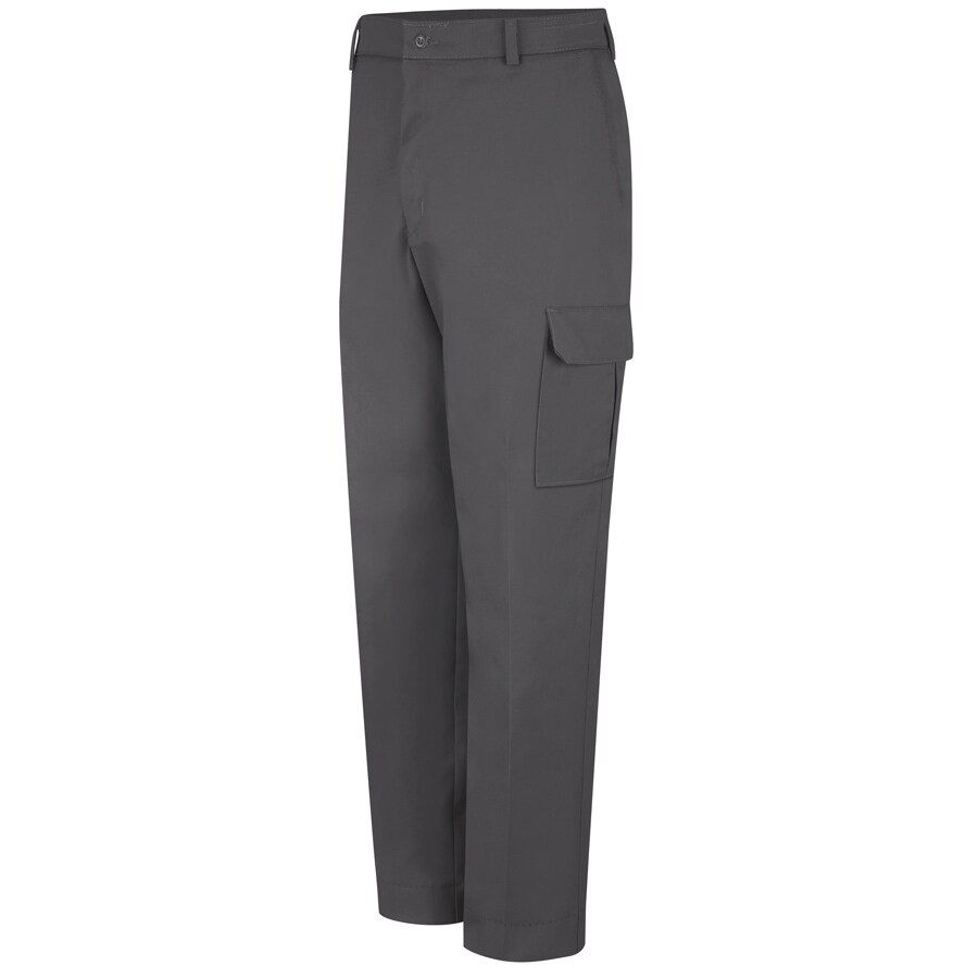Red Kap Men's 42 x 32 Charcoal Twill Cargo Work Pants