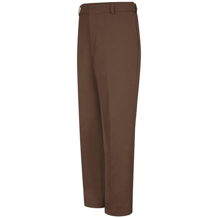 Red Kap Men's 28 x 34 Brown Twill Work Pants
