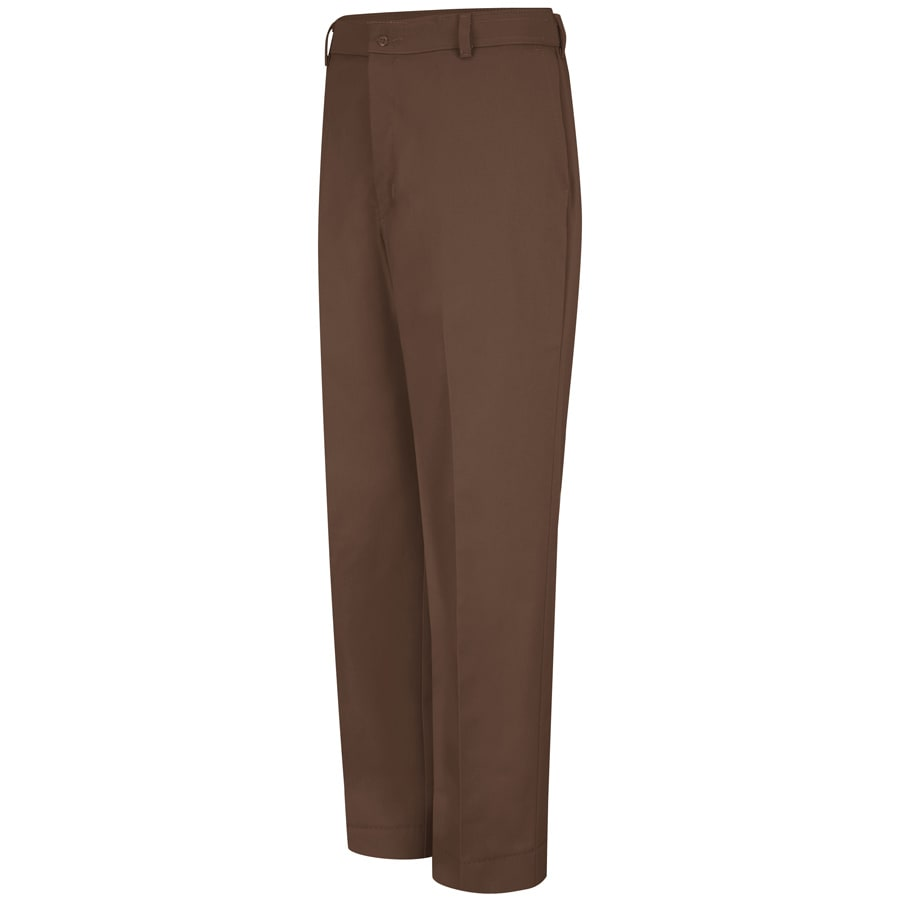 Red Kap Men's 50 x 34 Brown Twill Work Pants