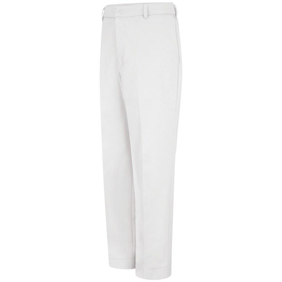 Red Kap Men's 48 x 32 White Twill Work Pants