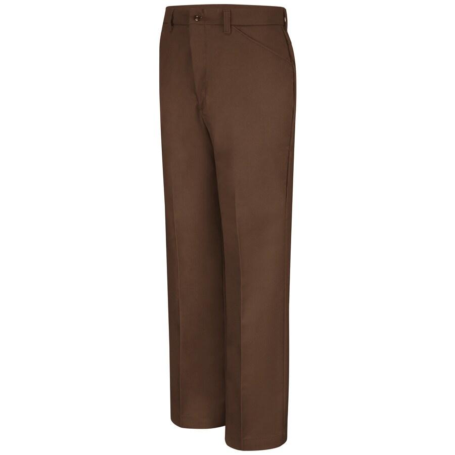 Red Kap Men's 28 x 30 Chocolate Brown Twill Work Pants