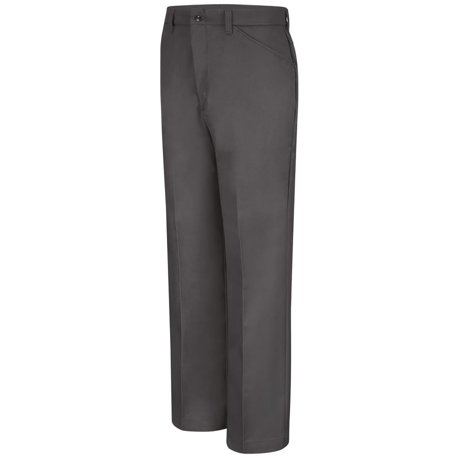 Red Kap Men's 42 x 32 Charcoal Twill Work Pants