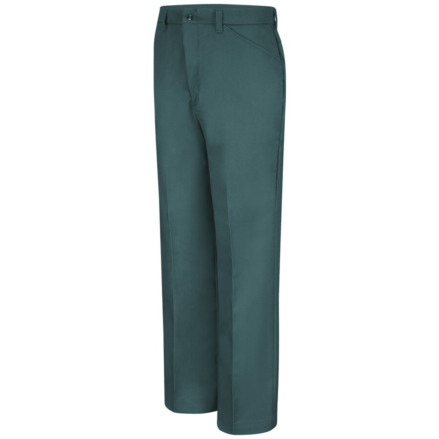 Red Kap Men's 28 x 32 Spruce Green Twill Work Pants