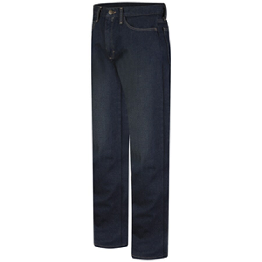 Bulwark Men's 28 x 32 Sanded Denim HRC 2 Jean Work Pants