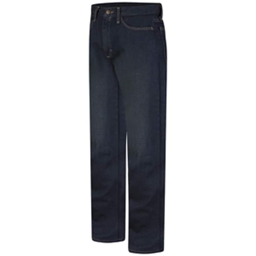 Bulwark Men's 34 x 32 Sanded Denim HRC 2 Jean Work Pants