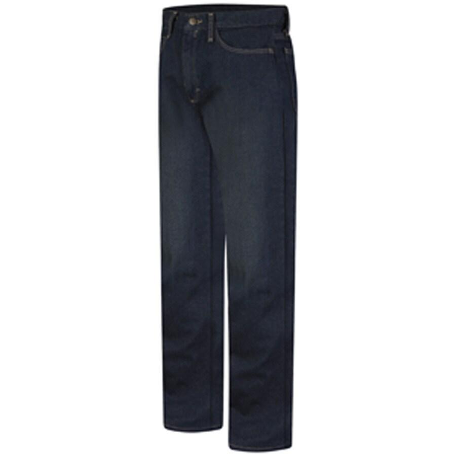 Bulwark Men's 42 x 32 Sanded Denim HRC 2 Jean Work Pants