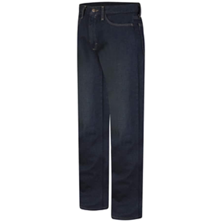 Bulwark Men's 42 x 34 Sanded Denim HRC 2 Jean Work Pants