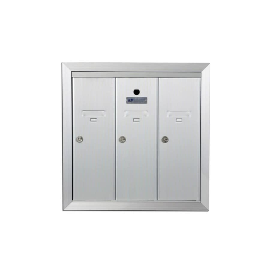 Florence 19-in x 19-in Metal Silver Lockable Recessed Mount Cluster Mailbox