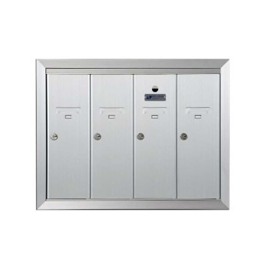 Florence 24-in x 19-in Metal Silver Lockable Recessed Mount Cluster Mailbox