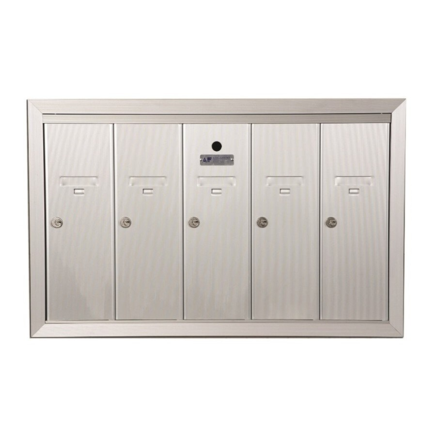 Florence 30-in x 19-in Metal Powder-Coat Gold Lockable Recessed Mount Cluster Mailbox