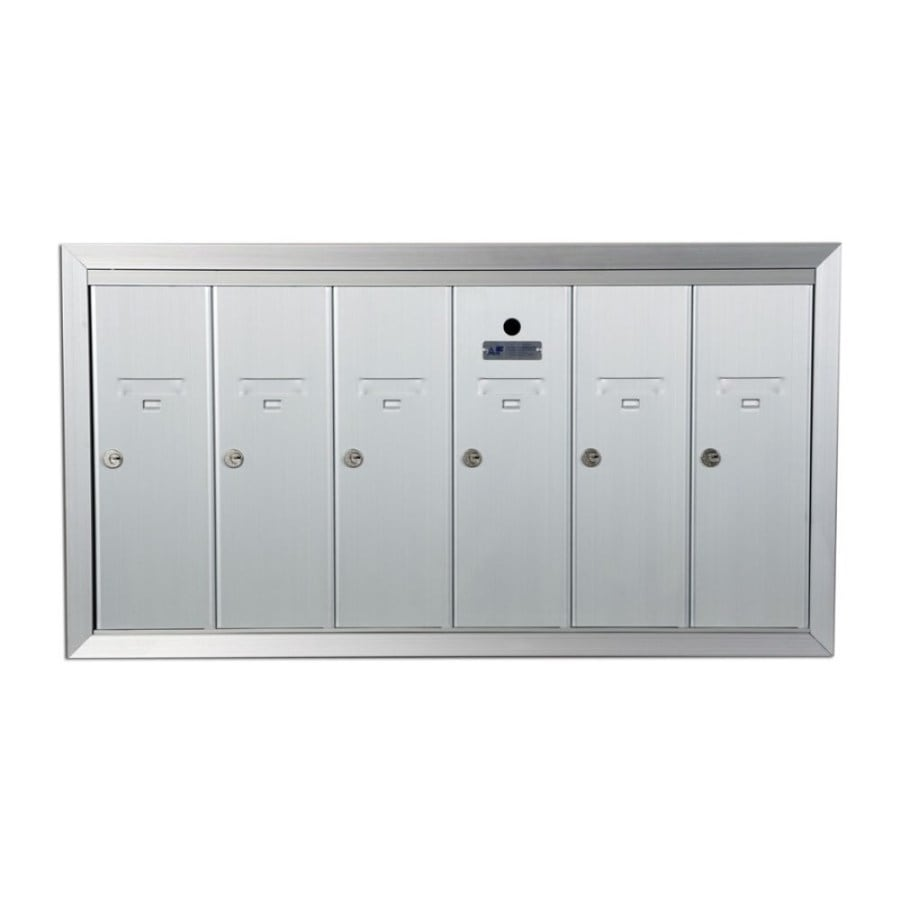 Florence 36-in x 19-in Metal Silver Lockable Recessed Mount Cluster Mailbox