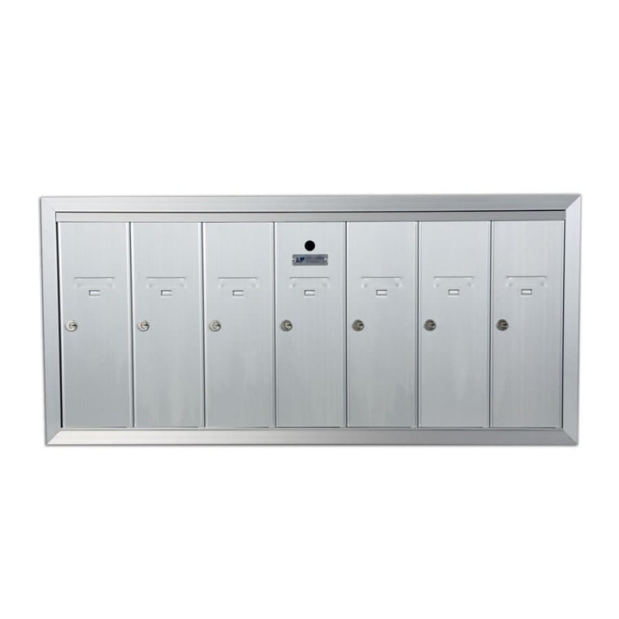 Florence 41-in x 19-in Metal Silver Lockable Recessed Mount Cluster Mailbox