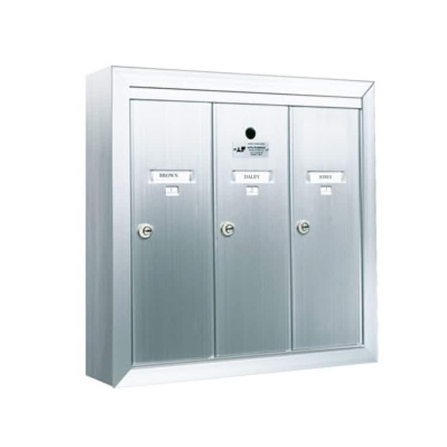 Florence 19-in x 19-in Metal Silver Lockable Wall Mount Cluster Mailbox