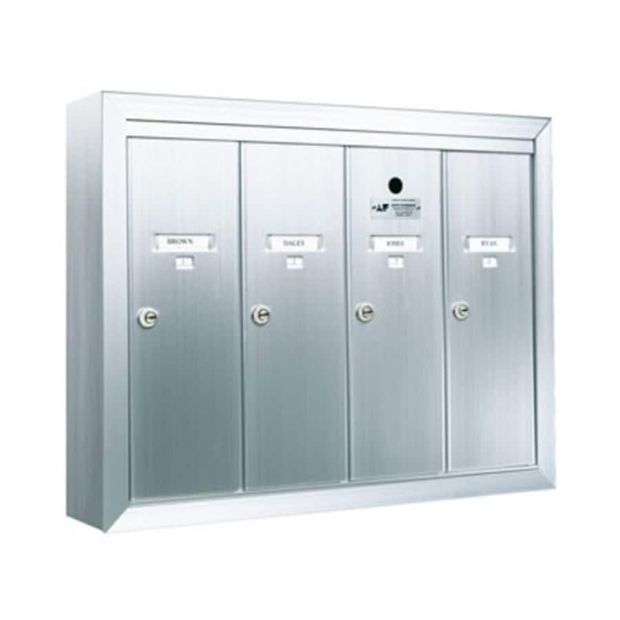 Florence 24-in x 19-in Metal Silver Lockable Wall Mount Cluster Mailbox