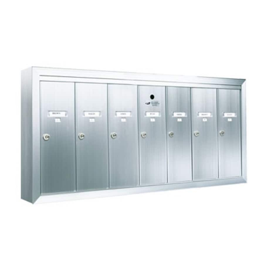 Florence 41-in W x 19-in H Metal Silver Lockable Wall Mount Cluster Mailbox