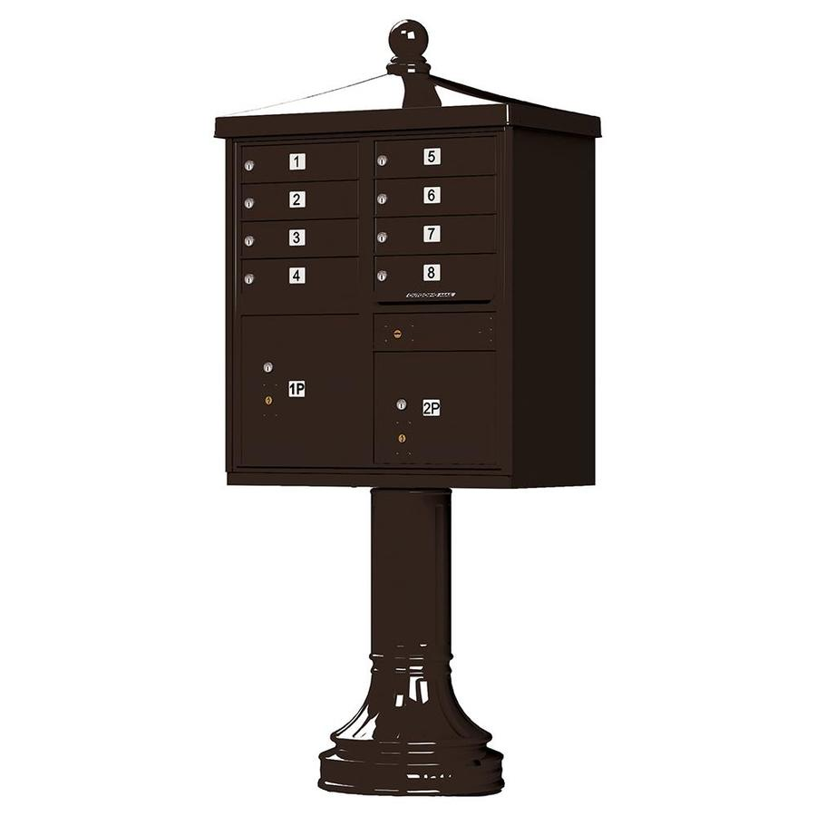 Florence 31-in x 71-in Metal Dark Bronze Powder-Coat Lockable Cluster Mount Cluster Mailbox