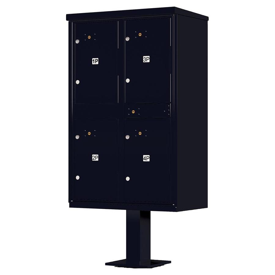 Florence Valiant 30.5-in W x 62-in H Metal Black Pebble Lockable Cluster Mount Cluster Mailbox
