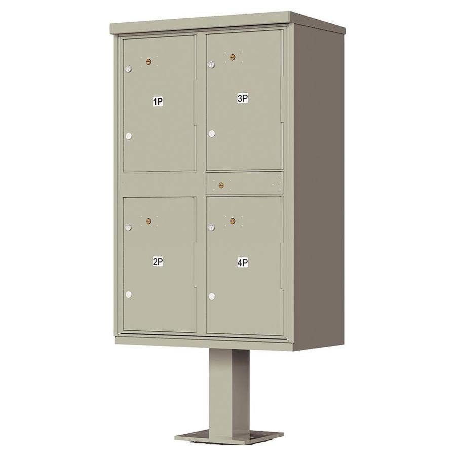 Florence Valiant 30.5-in x 62-in Metal Postal Grey Lockable Cluster Mount Cluster Mailbox