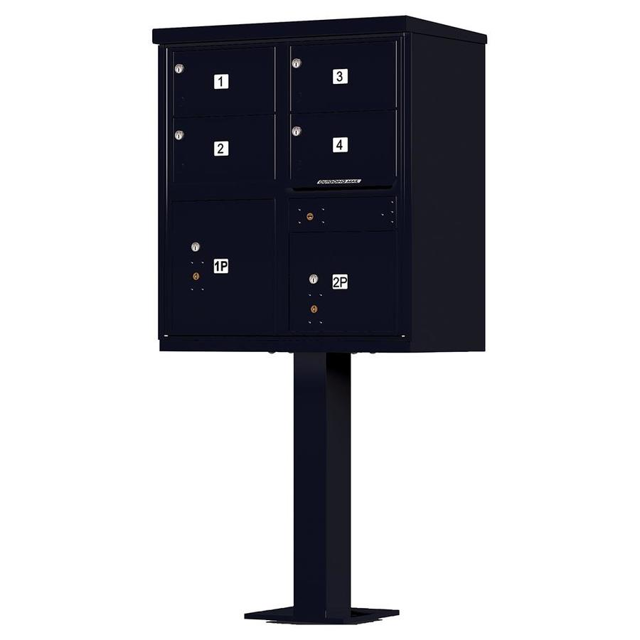 Florence Vital 30.5-in x 62-in Metal Black Pebble Lockable Cluster Mount Cluster Mailbox