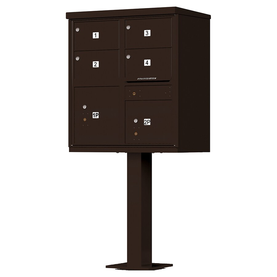 Florence Vital 30.5-in W x 62-in H Metal Dark Bronze Lockable Cluster Mount Cluster Mailbox