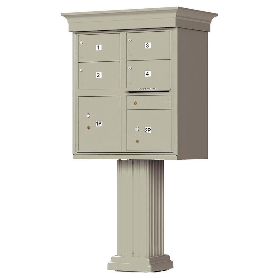 Florence Vital with Vogue classic Accessories 33.9-in W x 65.1-in H Metal Postal Grey Lockable Cluster Mount Cluster Mailbox