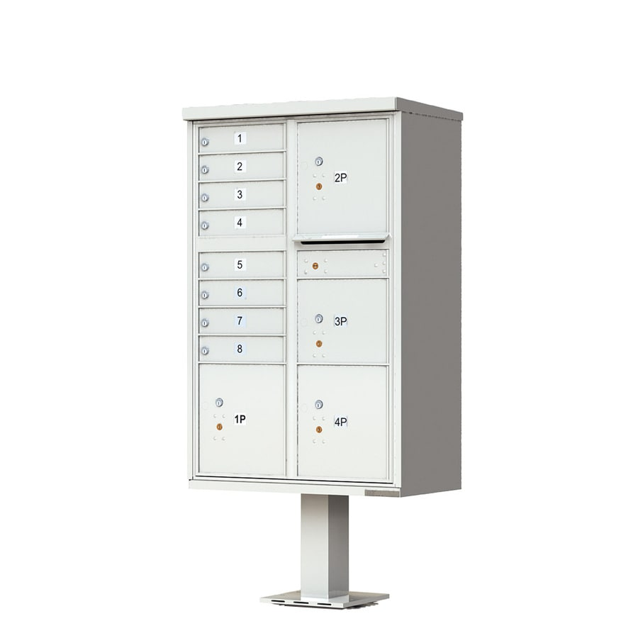 Florence Vital 30.5-in x 62-in Metal Postal Grey Lockable Cluster Mount Cluster Mailbox