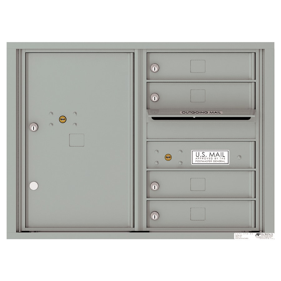 Florence Versatile 31.56-in x 23.25-in Metal Silver Speck Lockable Cluster Mount Cluster Mailbox